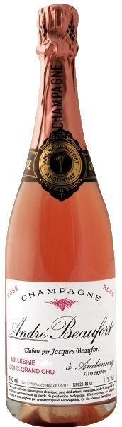 Шампанское Andre Beaufort Doux Rose Grand Cru, 1999