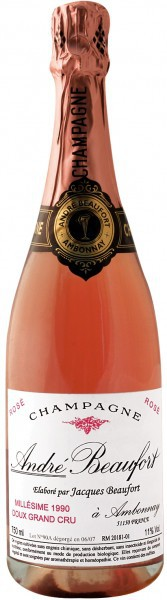 Шампанское Andre Beaufort Doux Rose Grand Cru, 1990