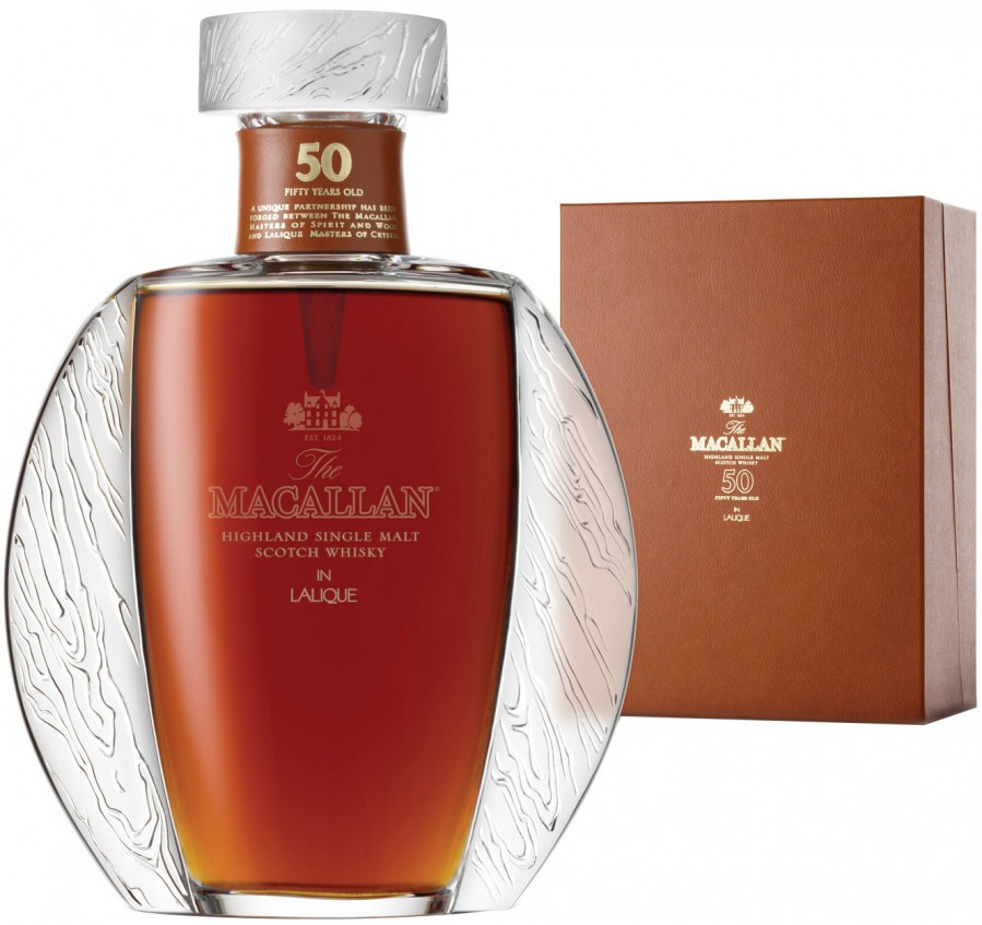 The Macallan in Lalique, 50 Years Old, gift box, 0.7 л