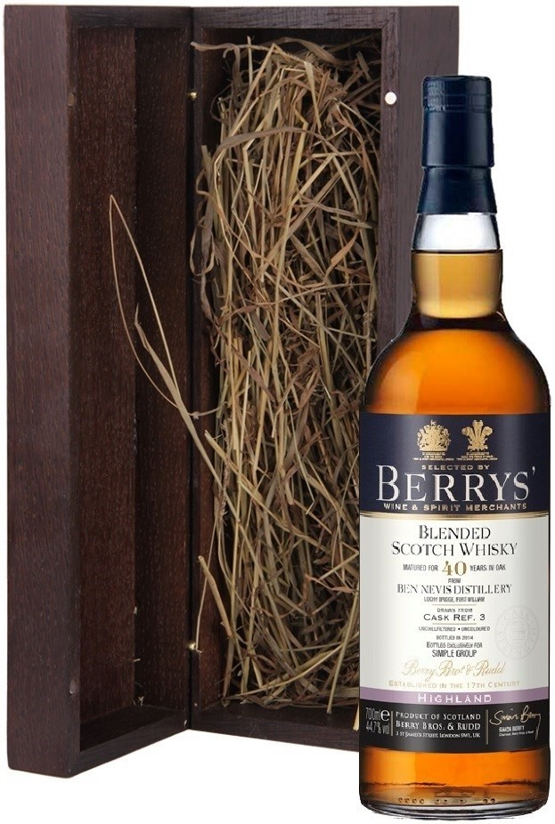 Berrys, Ben Nevis 40 Years Old, wooden box, 0.7 л