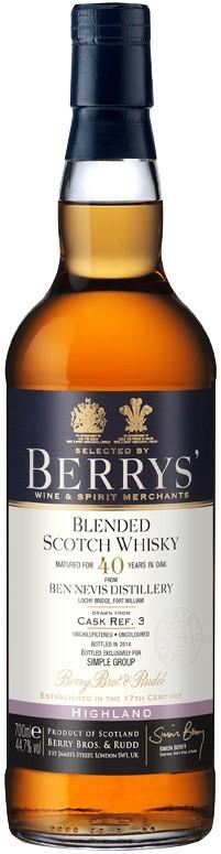 Berrys, Ben Nevis 40 Years Old, 0.7 л