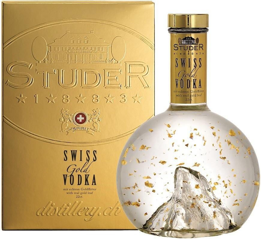 Studer, Swiss Gold Vodka, gift box, 0.7 л