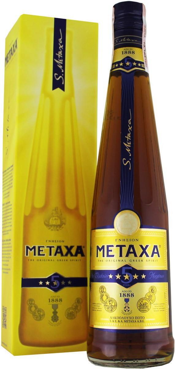 Metaxa 5*, gift box, 3 л
