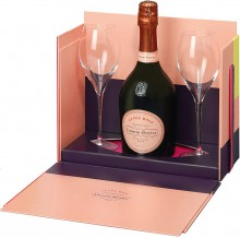 Шампанское Laurent-Perrier, Cuvee Rose Brut, gift box with 2 glasses