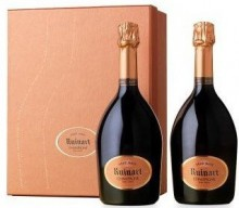 Шампанское Ruinart, Rose, gift set of 2 bottles in box