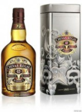 Chivas Regal 12 years old, with New Year metal box, 0.75 л