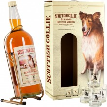 Scottish Collie, Pouring Stand+4 glasses, 4.5 л