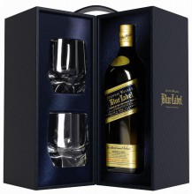 Johnnie Walker Blue Label, with 2 glasses, 0.7 л