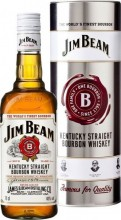 Jim Beam, in metal box, 0.7 л