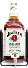 Jim Beam, with Pouring Stand, gift box, 3 л