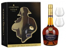 Courvoisier VSOP, gift box with 2 glasses, 0.7 л