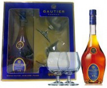 Gautier V.S.O.P., gift box with two glasses, 0.7 л