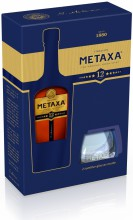 Metaxa 12*, gift box with 2 glasses, 0.7 л