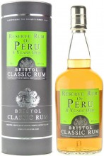 Bristol Classic Rum, Reserve Rum of Peru, 8 Years Old, in tube, 0.7 л